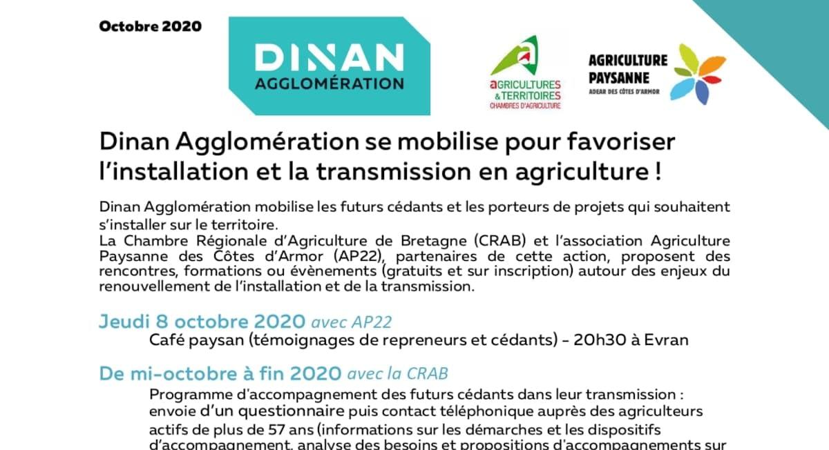 Read more about the article Dinan Agglomération se mobilise pour favoriser l'installation et la transmission en agriculture !
