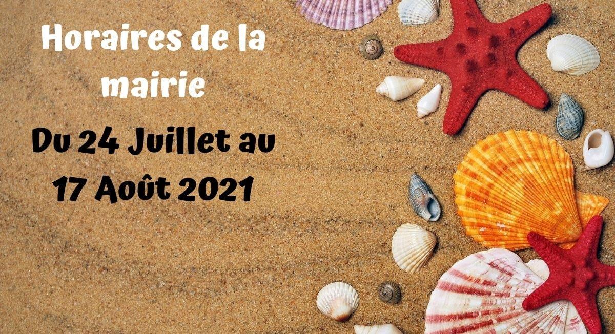 Read more about the article Horaires d'été de la Mairie