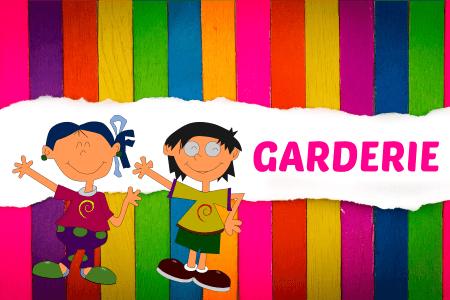 kids fond multicolore garderie